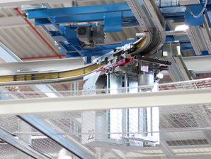 Conductor Rails in use for the elctrification of a Electrified Monorail System
