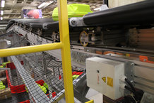 Sorters at Airports are mostly energy supplied with the IPT Rail System from Conductix-Wampfler