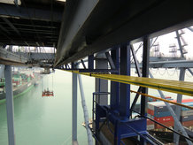 ProfiDAT data transmission system is used on a STS container crane