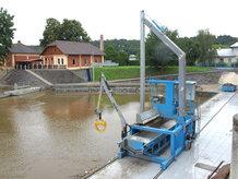 Federleitungstrommel in einem Wasserkraftwerk