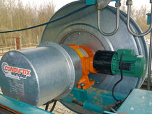 Motorized Cable Reel for the elctrification of a moblie scraper