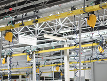 A Compressed Air and Electric Supply System in use at a assembly line