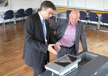 Besuch Verkehrsminister Hermann bei der Conductix-Wampfler GmbH [Bild 1]