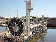 Motor-Driven Reels are used for the power transmission to Rectangular Scraper Bridges